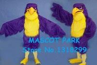 Фиолетовый сокол костюм талисмана высокое качество взрослый размер спорт eagle hawk птица тема аниме косплей костюмы карнавальные костюм компл