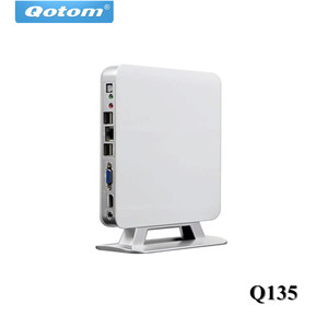 Qotom Mini PC E350D Dual Core Processor 1.6GHz Low Power Small Case 4USB Dual Display