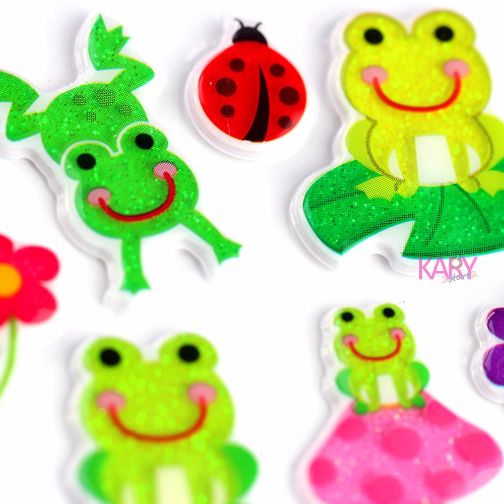 Cute Lucky Frog Animal Prince Scrapbooking Sparkle Bubble Stickers High Quality Special Emoji Reward Kids Toys For Children -12Cute Lucky Frog Animal Prince Scrapbooking Sparkle Bubble Stickers High Quality Special Emoji Reward Kids Toys For Children -12
