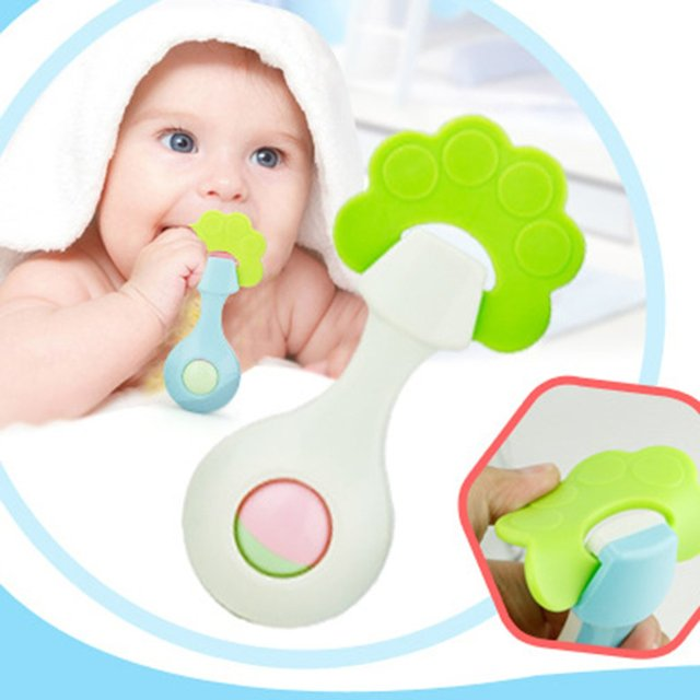 10Pcs Baby Teether Food Grade Polyester fiber Ring