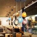 Каменные стеклянные шаровые подвесные светильники Красочные Lndoor Bubble подвесные светильники для ресторана кафе бара