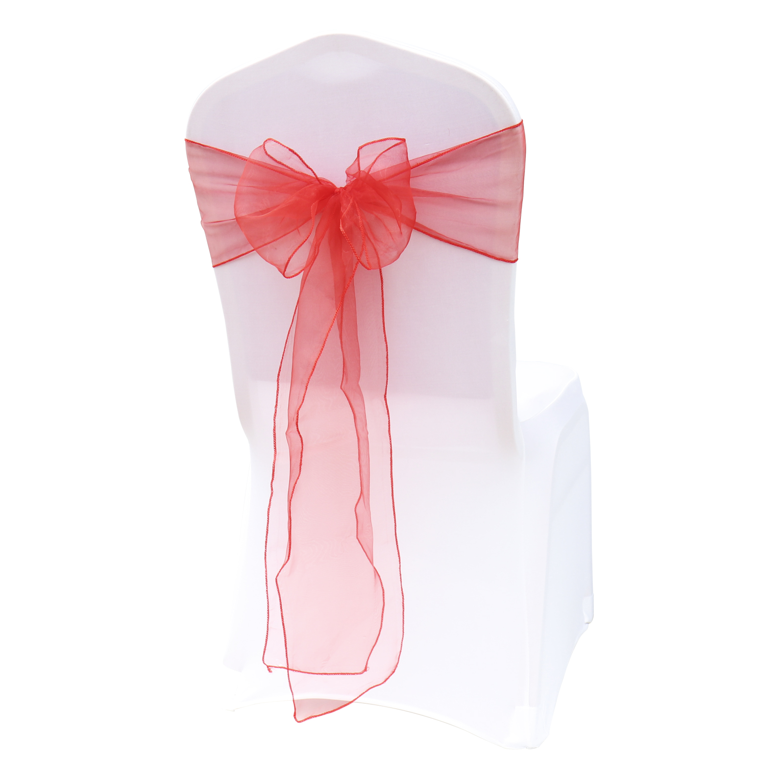 Top Sale Organza Chair Sashes 100PC Set Wedding Organza Chair Cover Bow Knot for Banquet Event
