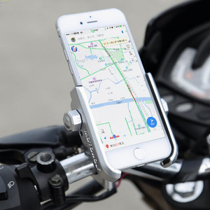 Image 2 - Alüminyum alaşımlı bisiklet motosiklet gidon montaj tutucu 360 rotasyon telefon tutucu iPhone 11 Pro Max evrensel Samsung S20