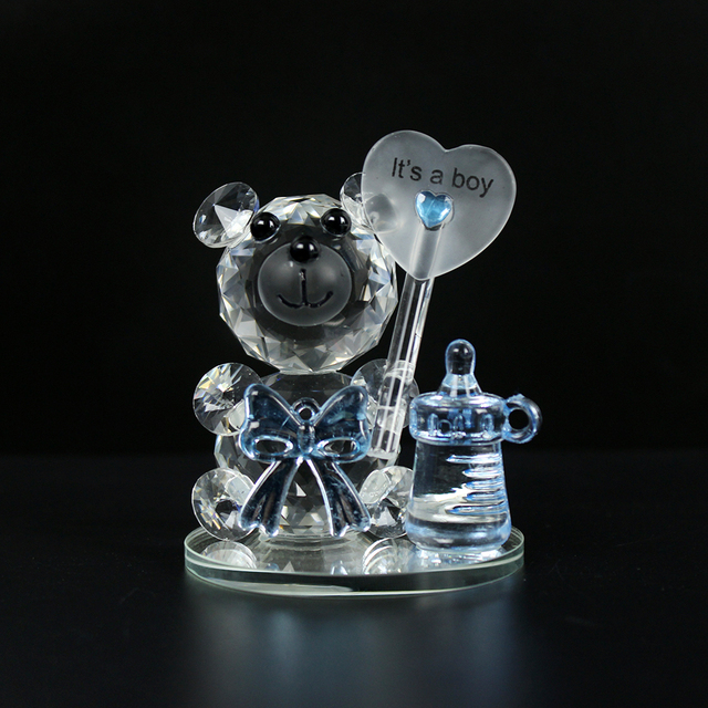 High Quality Crystal Bear NippleBaptism Baby Shower Souvenirs Party Christening Giveaway Gift Wedding Favors and Gifts For Guest