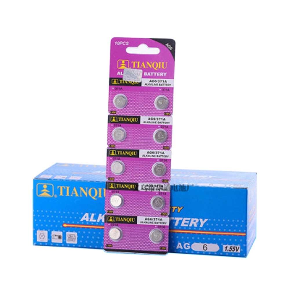 10pcs Wholesale Button Cell AG6 LR920 SG6 LR69 SR69 SR920 LR921 SR921 171 370 371 CX69 1.5V Alkaline Battery Watch Battery