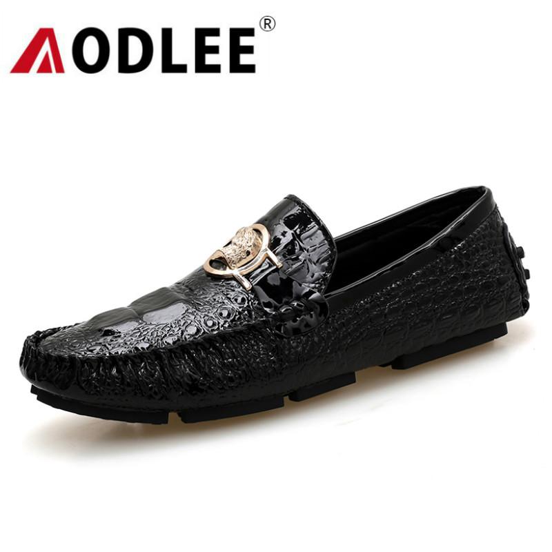 AODLEE Mens Shoes Casual Luxury Brand Italian Men Loafers Genuine Leather Shoes Soft Moccasins Breathable Slip On Driving Shoes
