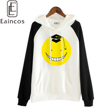 Anime Assassination Classroom Korosensei Hoodies Cosplay Costume Hooded Coat Cute Cartoon Tops