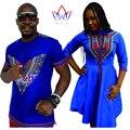 Otoño Nueva Bazin Vestidos de Marca Ropa de Hombre Camisa de Manga Corta sr. y Sra. Camisa Tradicional Africana Mujeres Vestidos Tallas grandes WYQ20