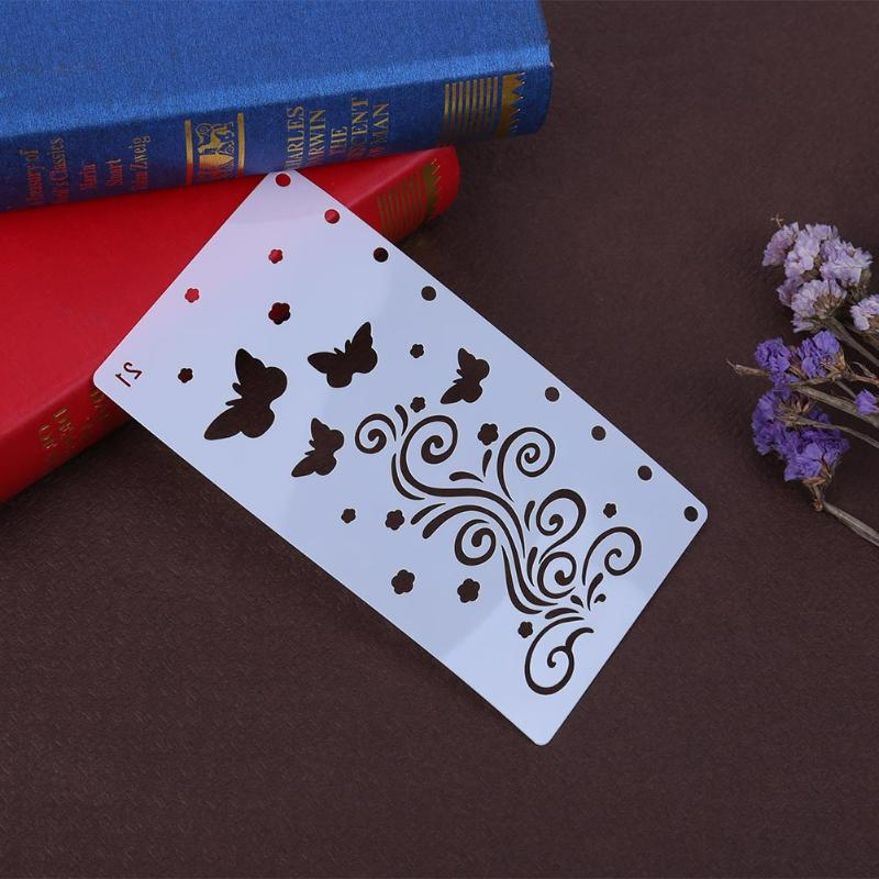 Butterfly Vine Plastic Stencils For Painting Office Adorable DIY Scrapbooking Photo Album Drawing A6 Page Hollow Ruler Templates