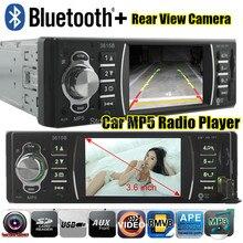 Nuevo 3.6 pulgadas soporte de pantalla TFT de la cámara posterior del coche de radio bluetooth reproductor de audio del coche estéreo de películas MP5 MP4 12 V del vídeo FM USB / SD / MMC