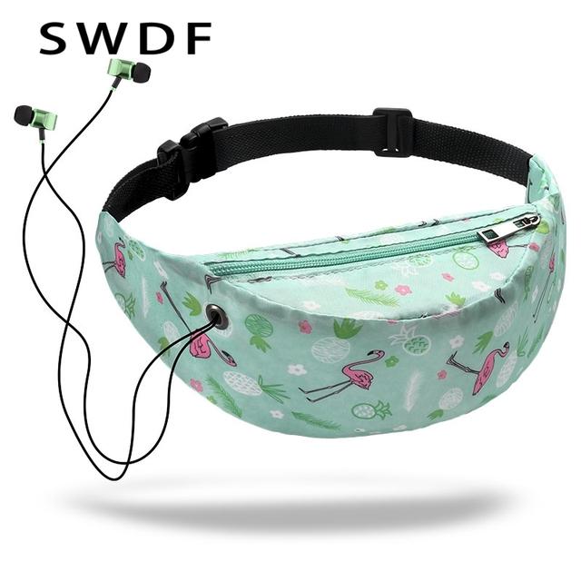 3D Colorful Print women waist Bags girls fanny packs Hip Belt Bags Money Travelling Mountaineering Mobile Phone Bag Waist Packs
