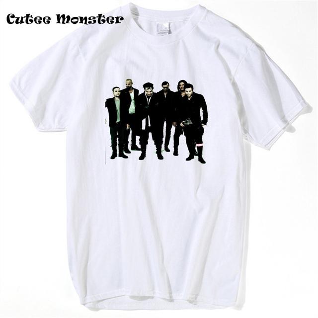 2017 verão rammstein t camisa de algodão de manga curta harajuku clothing Banda de Música T-shirt Engraçados do sexo masculino Hip Hop Casual Tops Tees 3XL