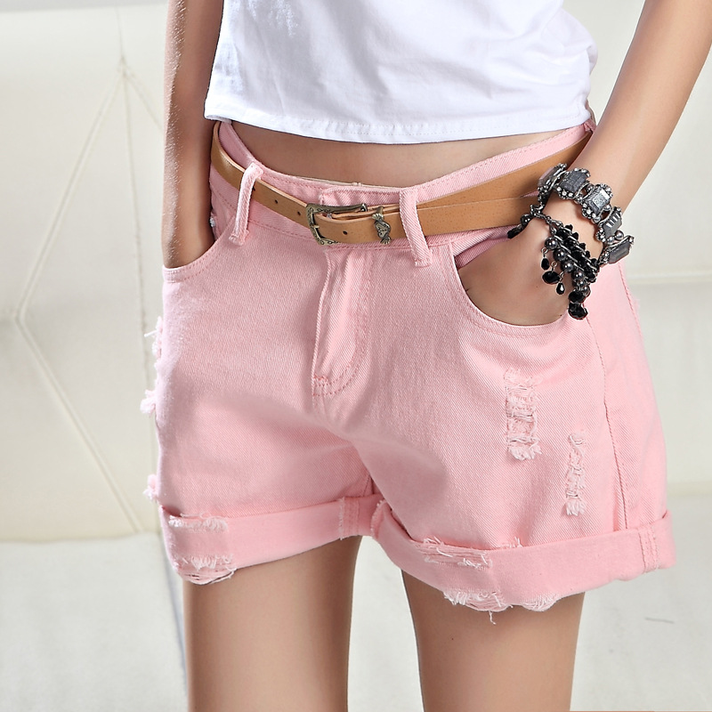 Popular Pink Jean Shorts-Buy Cheap Pink Jean Shorts lots from ...