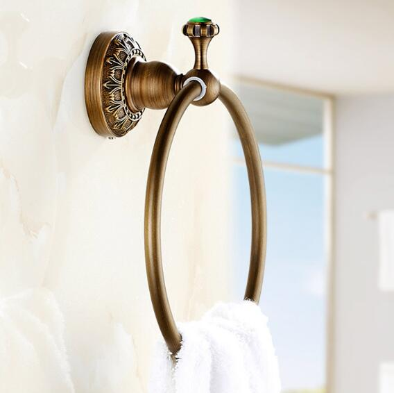 Free Shipping Towel Rack New Arrivals Luxury Brass Antique Towel Ring Bathroom Towel Holder, Towel Bar Bathroom Accessories luxury brass gold towel ring towel holder towel bar bathroom accessories free shipping