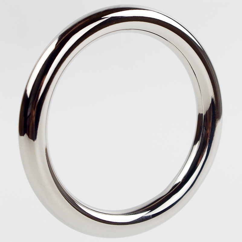 Stainless Steel Cock Ring Round 40/45/50mm Time Delay Cock Rings Male Sex Toys Penis Rings  Sex Products wearable penis sleeve extender reusable condoms sex shop cockring penis ring cock ring adult sex toys for men for couple