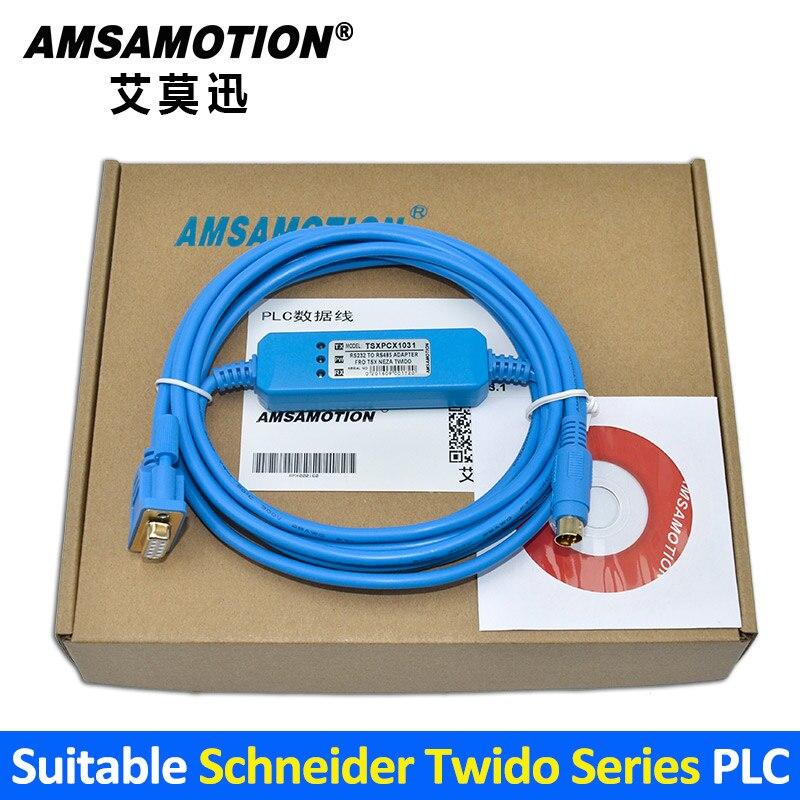Suitable Schneider Twido Series PLC Programming Cable TSXPCX1031 Download Line RS232 Port