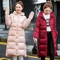 2016 Outono Inverno Quente Mulheres Jaqueta Moda Revestimento Das Mulheres Para Baixo grossa Com Capuz Causal Longo Plus Size Mulheres Casacos de Alta Qualidade S-XXL