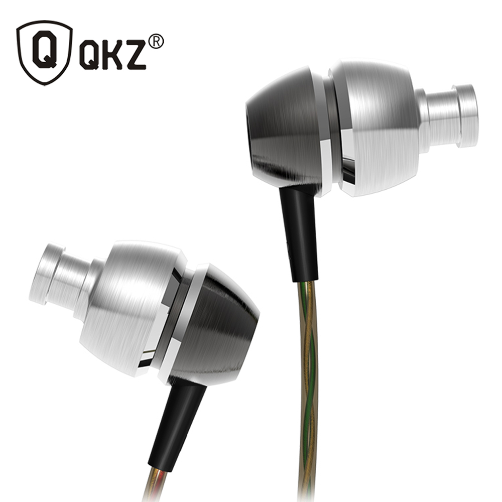QKZ X8 Earphone High-end Bass Earphones Double Moding Metal HeadSet In-ear Balanced Professional for DJ/POP/Rock With Gift Box