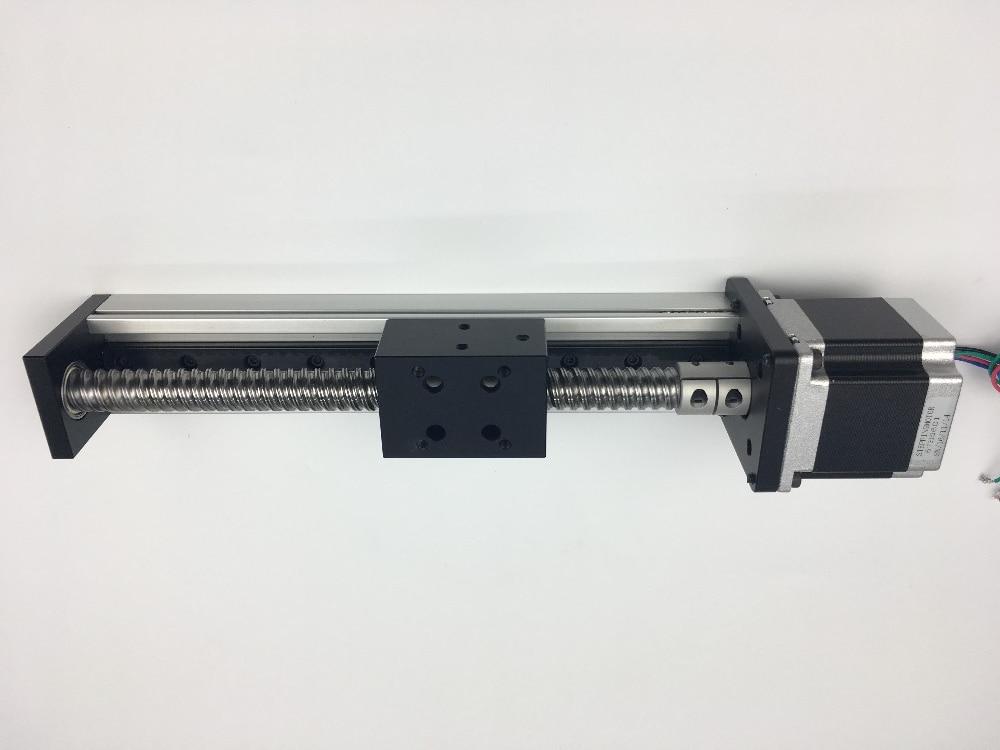 Free Shipping CNC SGX 1610 Ballscrew Sliding Table effective stroke 400mm+1pc nema 23 stepper motor XYZ axis Linear motion free shipping cnc 800mm stroke cnc linear guide kit for three axis machine