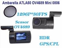 Free Shipping Original Car DVR GPS Dash Cam CPL Filter Newest Upgrade Mini 0806 Full HD