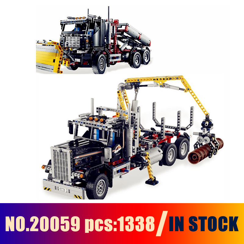 models building toy logging truck set 1338pcs 20059. Black Bedroom Furniture Sets. Home Design Ideas