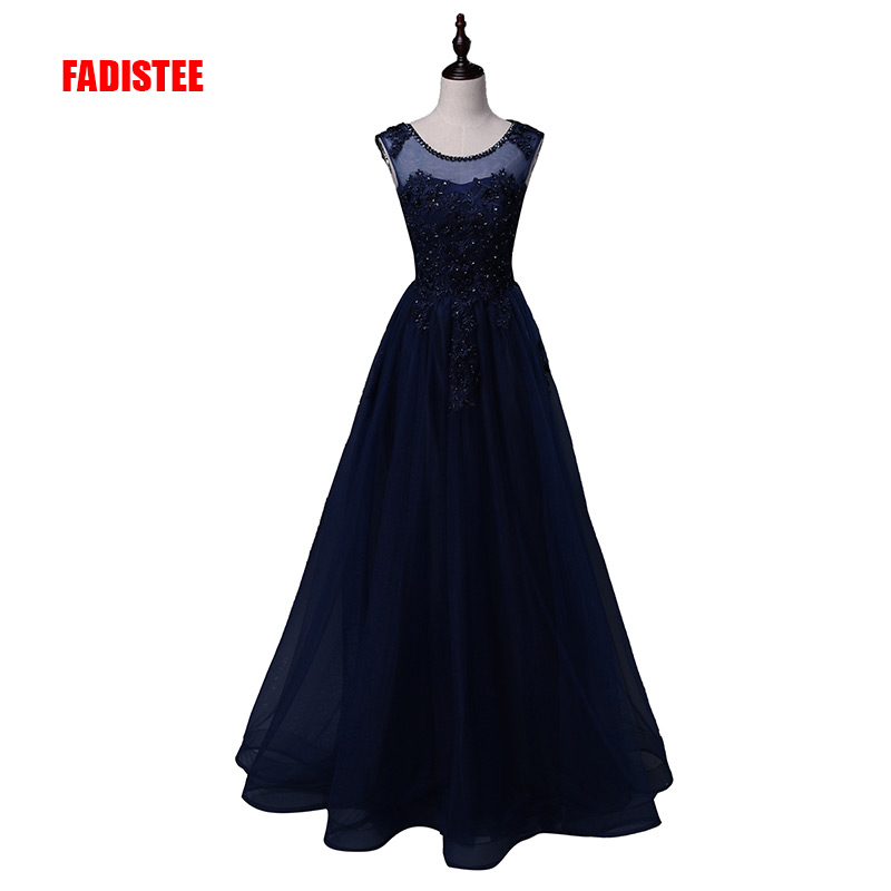 FADISTEE New arrival Gorgeous evening dresses Vestido de Festa A-line appliques beads floor length prom long pearls sexy back