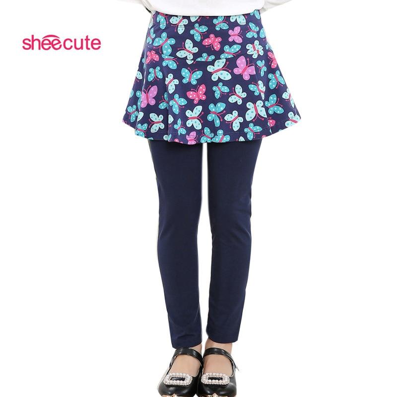 2016 new Arrival Spring Autumn girls leggings Girls Skirt-pants Cake skirt girl baby pants kids leggings 3-11Y SCA2307