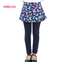 SheeCute/Новое поступление, весенне-осенние леггинсы для девочек юбка-брюки для девочек, многослойная юбка-пачка штаны для маленьких девочек де...