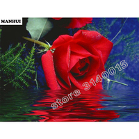 Handmade Needlework Diy Diamond Painting Kit Diamond Embroidery Full Rhinestone Roses Flower Cross Stitch Diamond PaintingBEC042