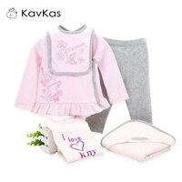 5pcs/Set Baby Girl Clothes Set Cotton Winter Kids Newborn Gift Toddler Girl Christmas Set Outfits Infant Girl Bodysuit Top Pant