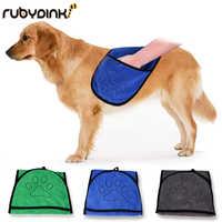 Dog Bath Towels Pet Dog Bath Towel for Small Medium Large Dogs Microfiber Super Absorbent Pet Drying Towel Blanket With Pocket