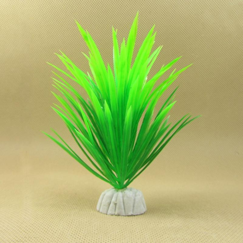 New Artificial Plastic Green Plants Narcissus Water Grass Fish Tank Aquarium Decor Ornament