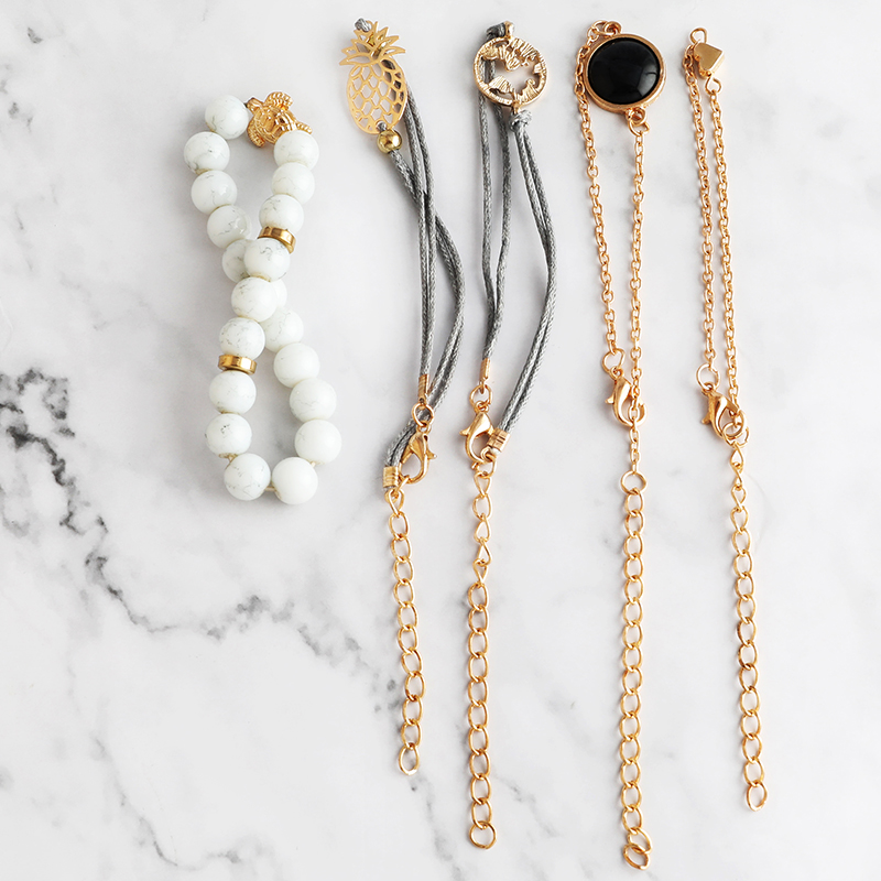 2019 Fashion Gold Lady Wristwatch Luxury Simple Women Bracelet Watches Casual Stylish Female Gift Clock set Ulzzang Style marble in Women 39 s Watches from Watches