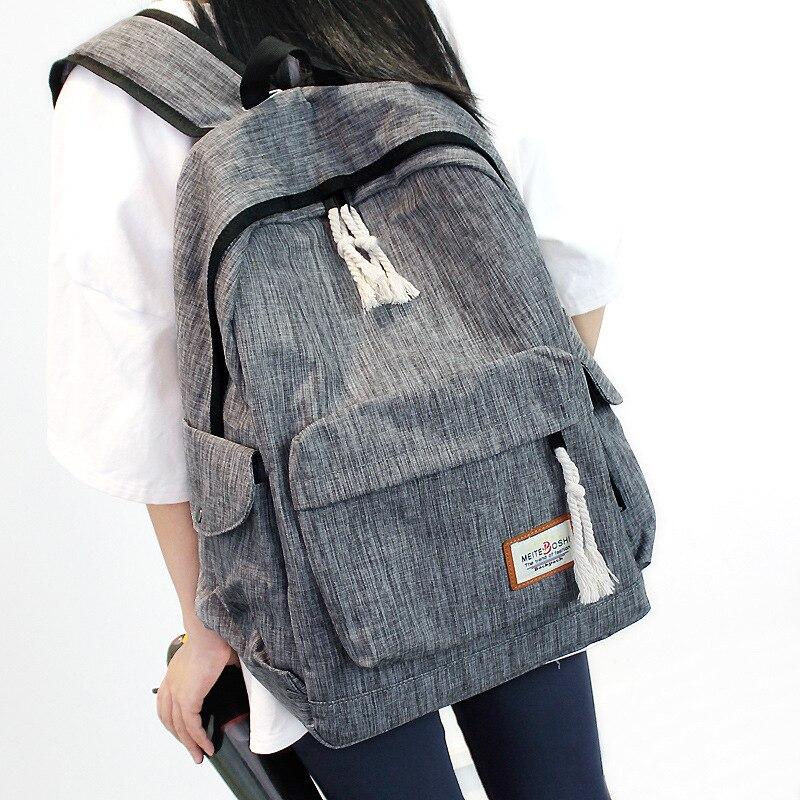 Oxford Backpack Waterproof Women Knapsack Solid Color Backpack Girl Student School Bag For Teenager Laptop Mochilas