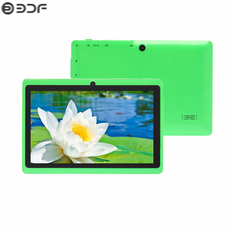 BDF Cheap Tablet 7 Inch Android 4.4 Tablet Pc 1024*600 LCD Dual Camera 512MB+8GB Quad Core Tab Bluetooth WiFi Tablets 7 8 9 10