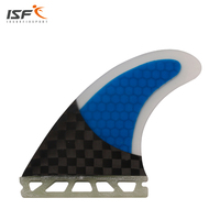 Free shipping blue carbon fiber future surfboard fins honeycomb sup fins pranchas de surf fins G5 de surfing quilhas 3 piece