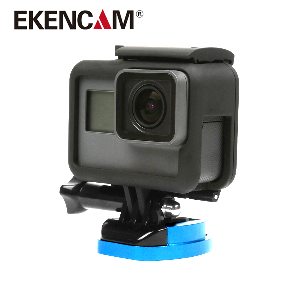 EKENCAM Aluminum Alloy Flat Surface Base For Gopro Hero 6 5 4 Xiaomi Yi 4K SJCAM SJ4000 SJ5000 h9 h8r Camera Mount Go Pro Camera