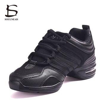 цена на Women Dance Shoes For Salsa/Modern/Hip Hop/Jazz Breathable Teachers Dance Sneakers Men/Women/Ladies Sports Feature Dancing Shoes