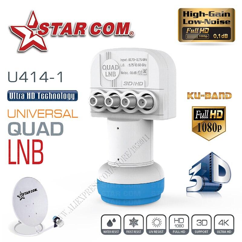 ÉTOILES COM Universel QUAD LNB Pour Satellite TV Récepteur BANDE KU LNB Pour Satellite TV BOX
