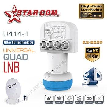 STAR COM QUAD LNB Universal para receptor de TV por satélite banda Ku LNB para caja de TV satélite