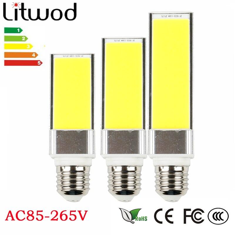 Удара светодиодные лампы 10 Вт 15 Вт 20 Вт G23 <font><b>G24</b></font> светодиодные лампы 180 градусов кукурузы лампочки белый AC85-265V горизонтальный разъем точечные све&#8230;