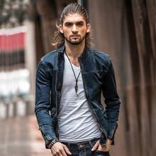 2016 Fashion Jeans Jacket Plus Size Men s Denim Jacket Vintage Men Slim Jeans Jackets Brand