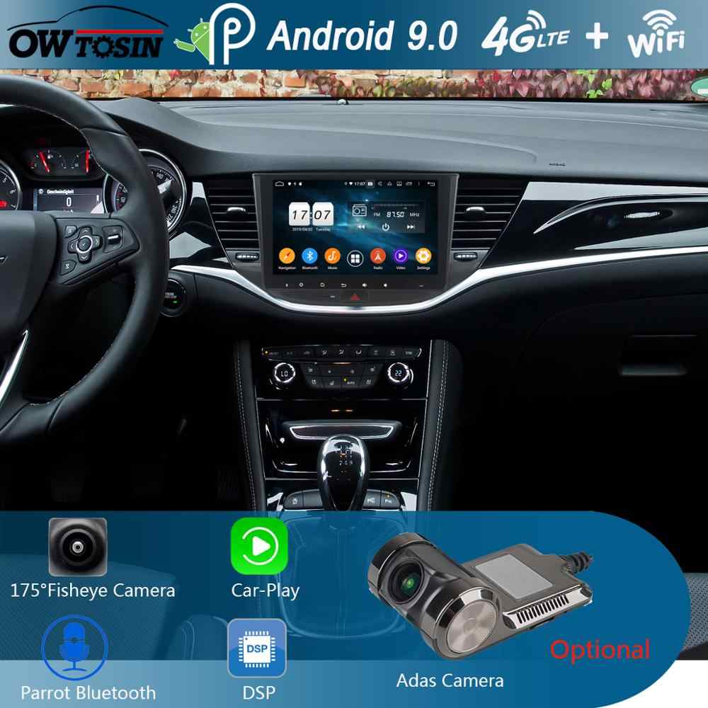 "IPS 9"" Android 9.0 8Core 4G+64G Car DVD Player GPS Navigation For Opel ASTRA K 2016 2017 Multimedia Stereo DSP CarPlay Parrot BT"