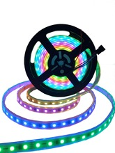 WS2818 5m 60LEDs/m(20pixels/m) DC12V RGB full color led pixel strip;WHITE PCB;waterproof in silicon tube/in silicon coating