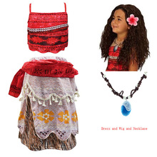 pamaba kids moana adventure costume girls dress summer clothes princess vaiana clothing set children birthday cosplay dress up New Moana Girl Dress Moana Princess Dress Children's Party Cosplay Costume & Wig Children's Clothing Vaiana Clothes