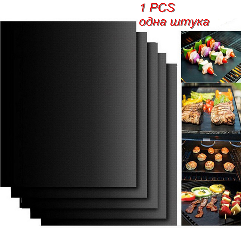 bbq Grill Mat Baking Non-stick Reusable 40 * 30cm Heat Resistance Easily Cleaned Barbecue Tools Churrasco bbq Set Grill Mat Гриль