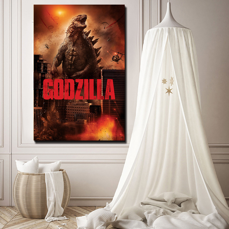 Godzilla Movie Poster Paintings On Canvas Full Scorpion Man Modern Art Decorative Wall Pictures Home Decoration in Painting Calligraphy from Home Garden
