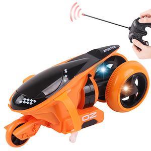 Image 2 - RC オートバイリア輪駆動 360 度ドリフトオートバイスタントリモートコントロールおもちゃ