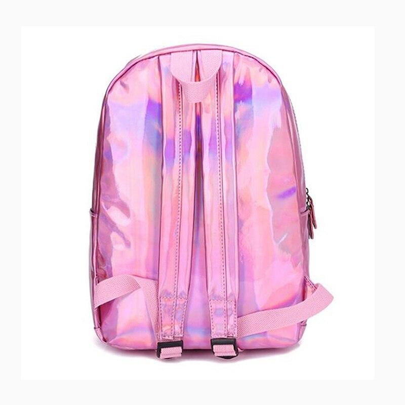 HTB1OnW7bA5E3KVjSZFCq6zuzXXaj Yogodlns 2019 Holographic Laser Backpack Embroidered Crybaby Letter Hologram Backpack set School Bag +shoulder bag +penbag 3pcs