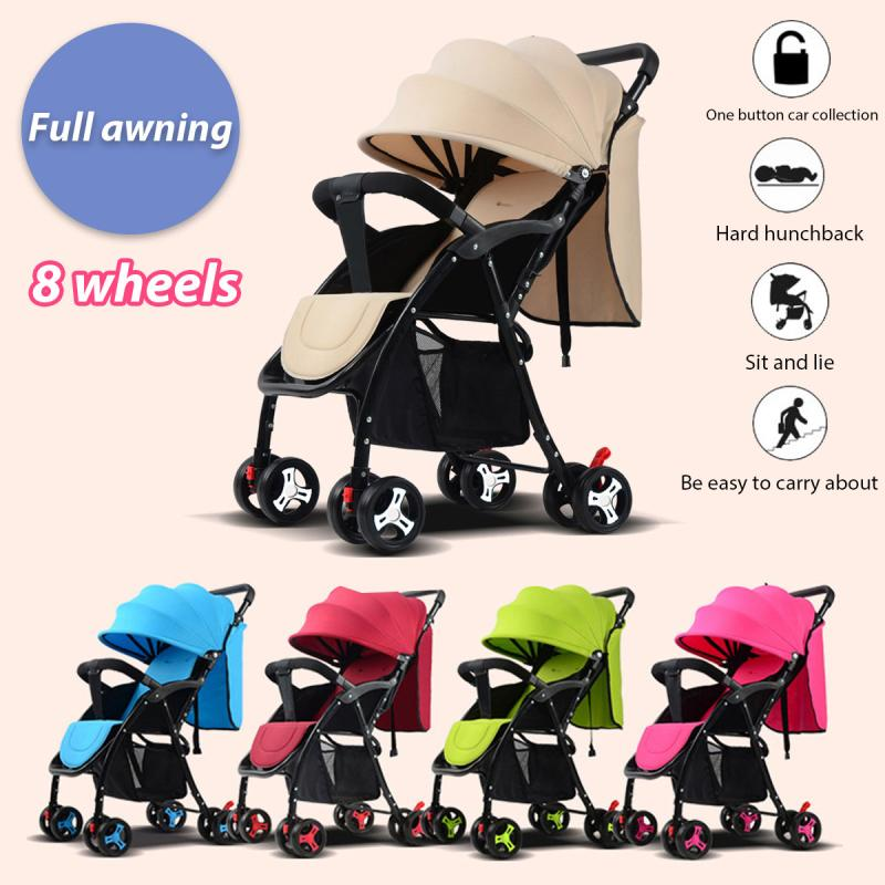 Baby Stroller High Landscape Portable Baby Carriages Folding Prams For Newborns Travel System super light luxury baby stroller high landscape folding baby car shockproof portable prams and pushchairs for newborns 4 2kg